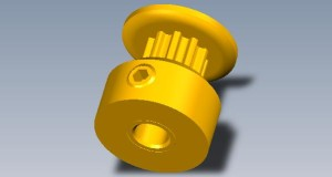 Free 3D CAD Model of a timing pulley